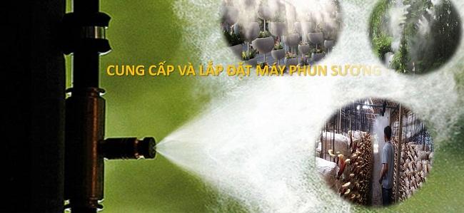 lắp đặt máy phun sương tại Nha Trang
