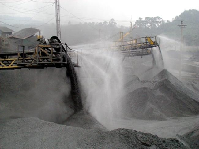 dập bụi cho nhà máy sản xuất than