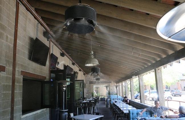 lắp hệ thống phun sương làm mát cho nhà hàng quán nhậu tại Đà Nẵng