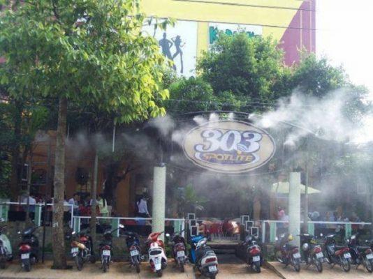 lắp đặt hệ thống phun sương quán cafe tại Phú Quốc