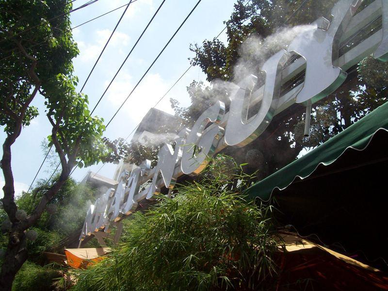 lắp đặt hệ thống phun sương quán cafe tại Côn Đảo