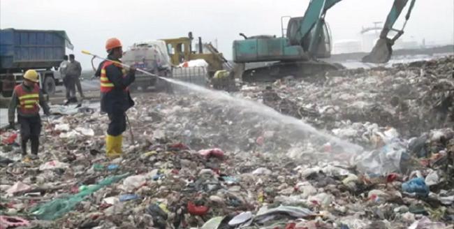 Khử mùi hôi cho bãi rác